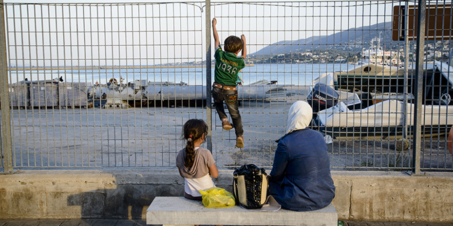 2015, June, Greece, Mylitini, Island, Médecins du Monde. migrants, harbour